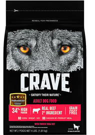 Crave Adult Dog Food Beef -- 4 lbs