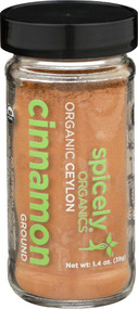 Spicely Organics Organic Ceylon Ground Cinnamon -- 1.4 oz