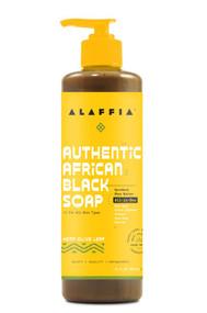 Alaffia Authentic African Black Soap All In One Hemp Olive Leaf -- 16 fl oz