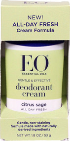 3 PACK of EO Deodorant Cream Citrus Sage -- 1.8 oz