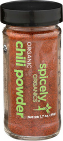3 PACK of Spicely Organic Chili Powder -- 1.7 oz