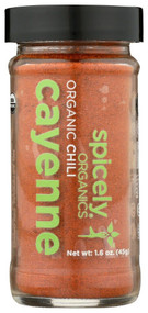 3 PACK of Spicely Organic Cayenne Pepper -- 1.6 oz
