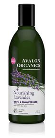 3 PACK of Avalon Organics Bath & Shower Gel Nourishing Lavender -- 12 fl oz