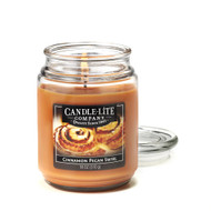 3 PACK of Candle Lite Cinnamon Pecan Swirl Candle -- 18 oz