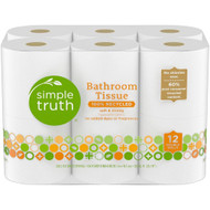 3 PACK of Simple Truth Bathroom Tissue Double Rolls -- 12 Rolls