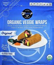 3 PACK of WrawP Organic Veggie Wraps - Original Turmeric & Oregano -- 3 Wraps
