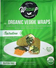 3 PACK of WrawP Organic Veggie Wraps - Spirulina Spirulina & Turmeric -- 3 Wraps