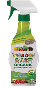3 PACK of Veggie Wash Organic Fruit and Vegetable Wash with Trigger Spray -- 16 fl oz