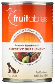 Fruitables Natural Digestive Supplement for Dogs & Cats Pumpkin & Ginger -- 15 oz