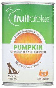 Fruitables Pumpkin Puree for Dogs & Cats -- 15 oz