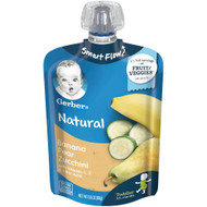 3 PACK of Gerber Smart Flow Toddler Pouch Banana Pear Zucchini -- 3.5 oz