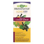 Natures Way, Sambucus, HoneyBerry NightTime Cough Syrup, 4 fl oz (120 ml)