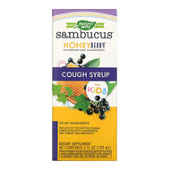 Natures Way, Sambucus for Kids, HoneyBerry Cough Syrup, 4 fl oz (120 ml)