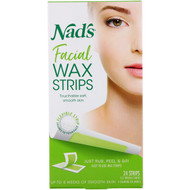3 PACK OF Nads, Facial Wax Strips, 24 Strips