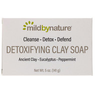 3 PACK OF Mild By Nature, Detoxifying Clay, Bar Soap, Eucalyptus & Peppermint, with Ancient Clay, 5 oz (141 g)