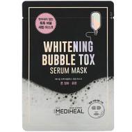 3 PACK OF Mediheal, Whitening Bubble Tox Serum Mask, 1 Sheet, 21 ml