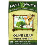 3 PACK OF Mate Factor, Olive Leaf  Organic Yerba Mate, 20 Tea Bags, 2.47 oz (70 g)