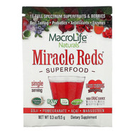3 PACK OF Macrolife Naturals, Miracle Reds, Superfood, Goji, Pomegranate,  Acai,  Mangosteen, 0.3 oz (9.5 g)