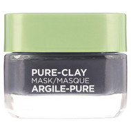 L'Oreal, Pure-Clay Mask, Detox & Brighten, 3 Pure Clays + Charcoal, 1.7 oz (48 g)