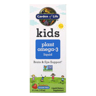 Garden of Life, Kids Plant Omega-3 Liquid, Strawberry , 2 fl oz (57.5 ml)