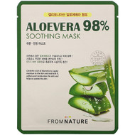 3 PACK OF FromNature, Aloe Vera, 98% Soothing Mask, 1 Mask