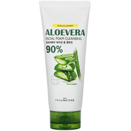 3 PACK OF FromNature, Aloe Vera, 90%, Facial Foam Cleansing, 130 g