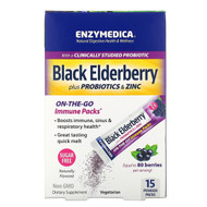 Enzymedica, Black Elderberry Plus Probiotics & Zinc, 15 Powder Packs