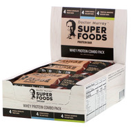 Dr. Murrays, Superfoods Protein Bars, Whey Protein Combo Pack, 12 Bars, 2.05 oz (58 g) Each