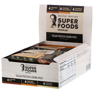 Dr. Murrays, Superfoods Protein Bars, Vegan Protein Combo Pack, 12 Bars, 2.05 oz (58 g) Each