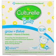 Culturelle, Probiotics, Baby, Grow + Thrive, Probiotics + Vitamin D Packets, 12-24 Months, Unflavored, 30 Single Serve Packets