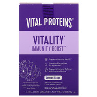 Vital Proteins, Vitality Immune Boost, Lemon Grape , 14 Packets, 0.46 oz (13 g) Each