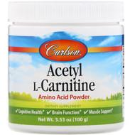 Carlson Labs, Acetyl L-Carnitine, Amino Acid Powder, 3.53 oz (100 g)