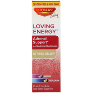 Bioray, Loving Energy, Adrenal Support with Medica Mushrooms, Alcohol Free, 2 fl oz (60 ml)