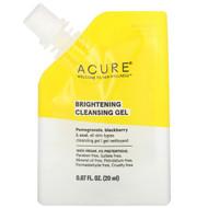 3 PACK OF Acure, Brightening Cleansing Gel, 0.67 fl oz (20 ml)