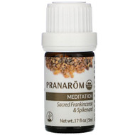 Pranarom, Essential Oil, Diffusion Blend, Meditation, .17 fl oz (5 ml)
