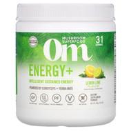 Om Mushrooms, Energy+, Powered by Cordyceps + Yerba Mate Powder, Lemon Lime, 2,000 mg, 7.05 oz (200 g)