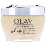 Olay, Total Effects Whip, Active Moisturizer with Sunscreen, SPF 25, Fragrance-Free, 1.7 oz (48 g)