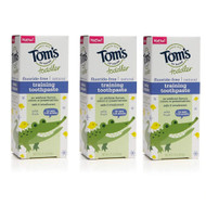 Toms of Maine Toddler Training Toothpaste Fluoride Free Mild Fruit -- 1.75 oz Each - Pack of 3