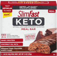 SlimFast Keto Meal Replacement Bar Whipped Triple Chocolate -- 5 Pack