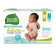 Seventh Generation Diaper Medium Stage Newborn -- 80 Diapers