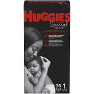 Huggies Special Delivery Baby Diapers Hypoallergenic Size 1 Jumbo Pack -- 35 Diapers