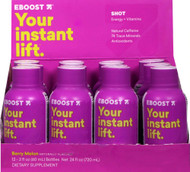EBoost Shot Energy plus Vitamins Berry Melon -- 12 Bottles