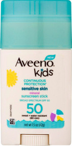 Aveeno Kids Continuous Protection Sunscreen SPF 50 -- 1.5 oz