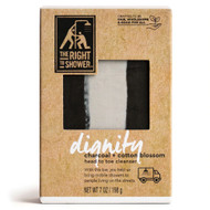 3 PACK OF The Right To Shower Dignity Bar Soap Charcoal Cotton Blossom -- 7 oz