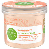 3 PACK OF Simple Truth Whipped Soap & Scrub Coconut Papaya -- 10 oz