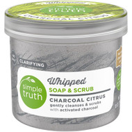 3 PACK OF Simple Truth Whipped Soap & Scrub Charcoal Citrus -- 10 oz
