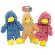 3 PACK OF Ethical Pet Products Spot Fuzzy Duck Plush Dog Toy Pastel -- 1 Toy