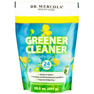 3 PACK OF Dr. Mercola Greener Cleaner Laundry Pouches -- 24 Pouches