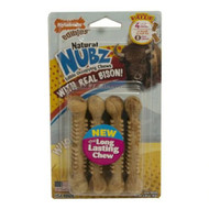 3 PACK of Nylabone Natural Nubz Edible Dog Chews Small Bison -- 4 Dog Treats