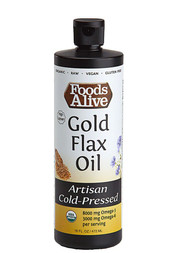 Foods Alive Organic Gold Flax Oil Light & Buttery -- 16 fl oz